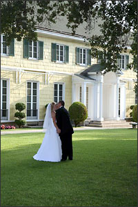 Historical Lindley Scott House Front Yard of Wedding Venue